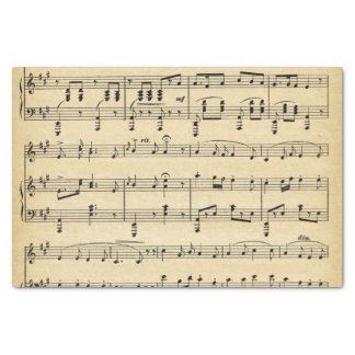 Antique Music Theme Tissue Paper