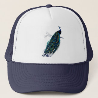 Antique Natural History Print Peacock Trucker Hat