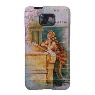 Antique Nautical Map Mermaid Galaxy S2 Cases
