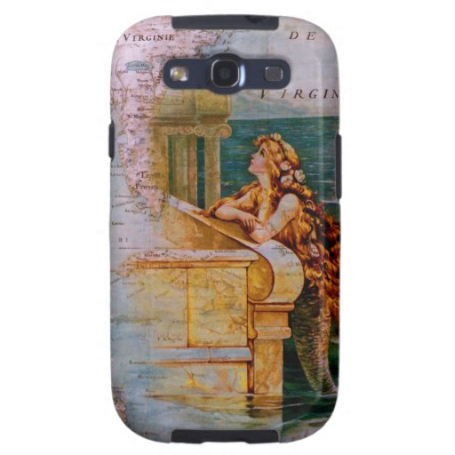 Antique Nautical Map & Mermaid Samsung Galaxy SIII Cases