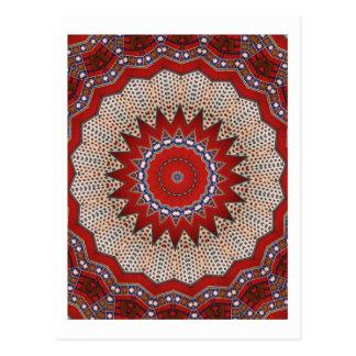 Antique Nomadic Kilim floral detail Post Card