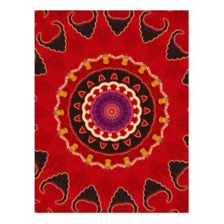 Antique Nomadic Kilim floral detail Post Cards