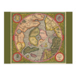 Antique North Pole Map Post Card