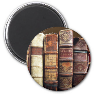 Antique Old Books Vintage Tomes Gift 6 Cm Round Magnet