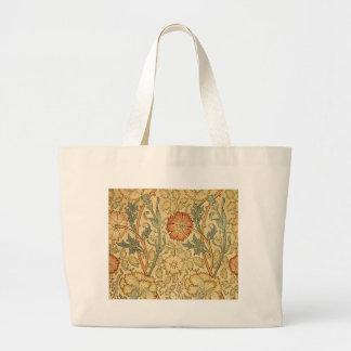 Antique Old Floral Design Tote Bags
