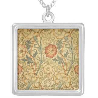 Antique Old Floral Design Silver Plated Necklace