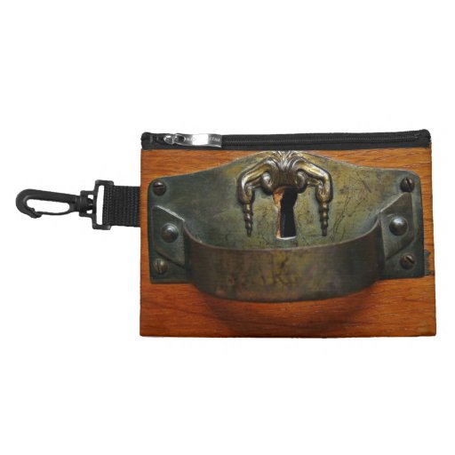 Antique Old Rusty Drawer Handle with a Keyhole Accessory Bag