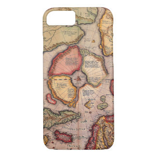 Antique Old World Map, Arctic North Pole, 1595 iPhone 7 Case