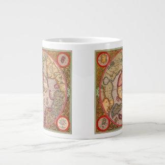 Antique Old World Map, Arctic North Pole, 1595 Jumbo Mug
