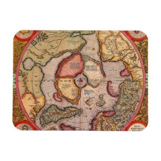Antique Old World Map, Arctic North Pole, 1595 Rectangular Photo Magnet