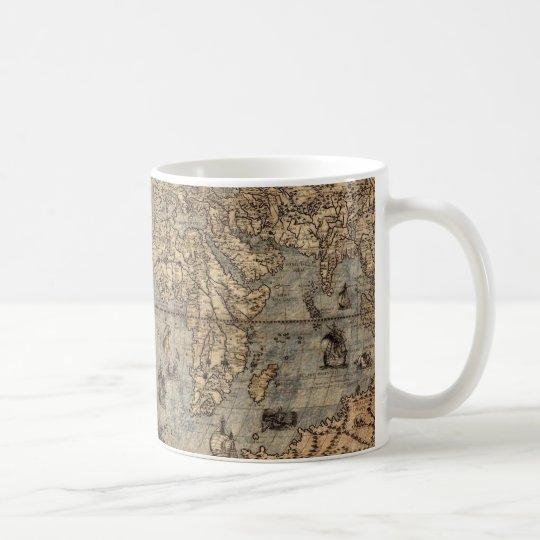Antique Old World Map Drinking Mug