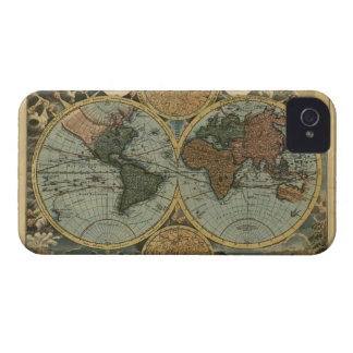 Antique Old World Map iPhone 4 Phone Case iPhone 4 Cases