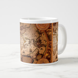 Antique Old World Map Jumbo Soup Mug Jumbo Mug