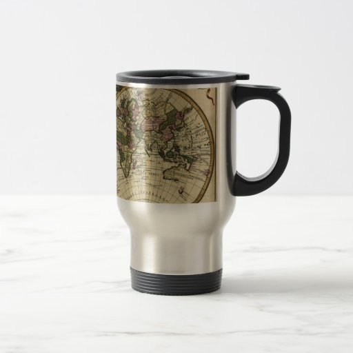 Antique Old World Map Mugs
