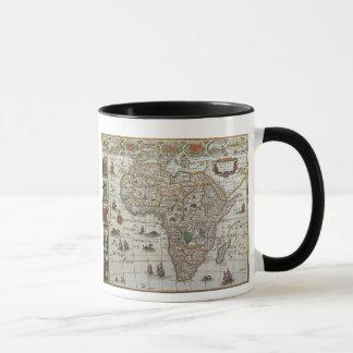 Antique Old World Map of Africa, c. 1635 Mug