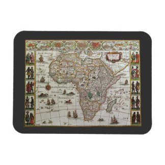 Antique Old World Map of Africa, c. 1635 Flexible Magnets