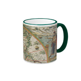 Antique Old World Map of the Americas, 1597 Ringer Mug