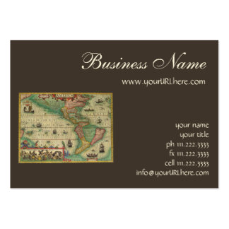 Antique Old World Map of the Americas, 1606 Pack Of Chubby Business Cards