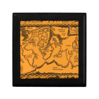 Antique, Old World Map Small Square Gift Box