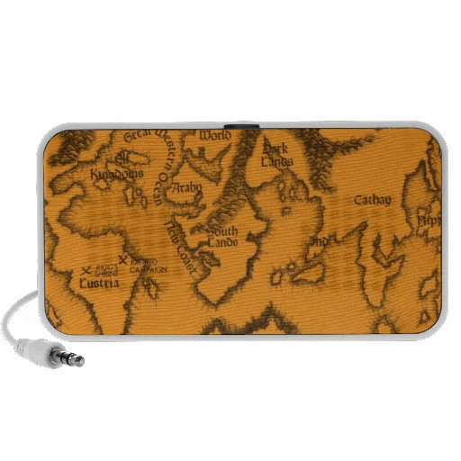 Antique, Old World Map Laptop Speakers