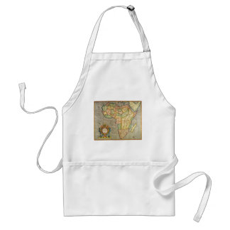 Antique Old World Mercator Map of Africa, 1633 Standard Apron