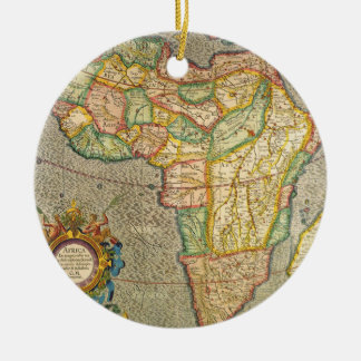 Antique Old World Mercator Map of Africa, 1633 Christmas Ornament