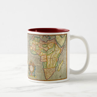 Antique Old World Mercator Map of Africa, 1633 Two-Tone Coffee Mug