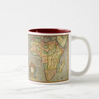Antique Old World Mercator Map of Africa, 1633 Two-Tone Mug