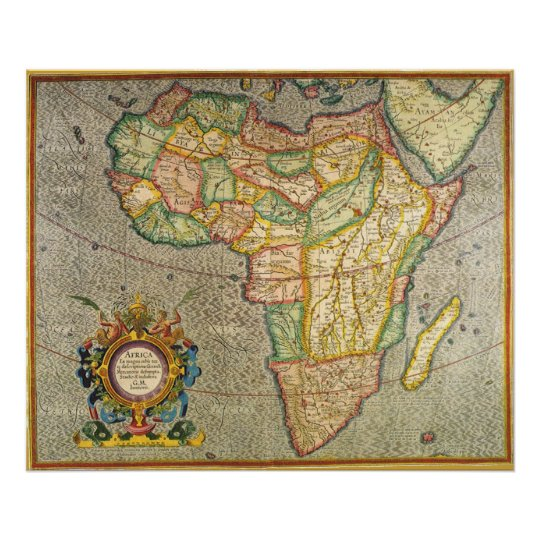Antique Old World Mercator Map of Africa, 1633