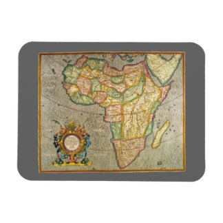 Antique Old World Mercator Map of Africa, 1633 Rectangular Photo Magnet
