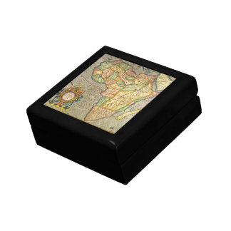 Antique Old World Mercator Map of Africa, 1633 Small Square Gift Box
