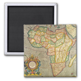 Antique Old World Mercator Map of Africa, 1633 Square Magnet