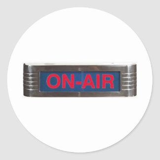 Antique On-Air Sign or On-The-Air Broadcasting Classic Round Sticker