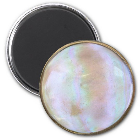 Antique Opal Brooch or Pin 6 Cm Round Magnet