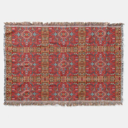 Antique Oriental Carpet Photo Print Repeat Pattern