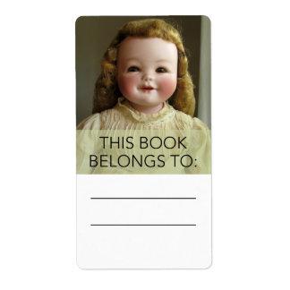 Antique Orsini Doll Bookplate Sticker Shipping Label