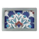 Antique Ottoman  Floral Tile Design Rectangular Belt Buckle