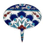 Antique Ottoman  Floral Tile Design Cake Topper