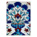 Antique Ottoman  Floral Tile Design Greeting Cards