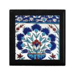 Antique Ottoman  Floral Tile Design Jewelry Box