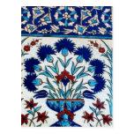 Antique Ottoman  Floral Tile Design Postcard