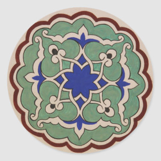 Antique OTTOMAN Islamic Tile Design Classic Round Sticker