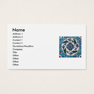 Antique Ottoman Tile Design Custom Business Cards