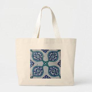 Antique Ottoman Tile Design Jumbo Tote Bag