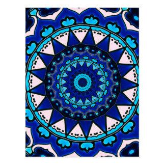 Antique Ottoman Tile Design STAR PATTERN Postcard