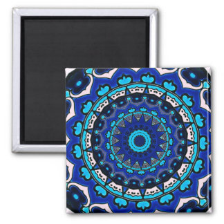 Antique Ottoman Tile Design STAR PATTERN Square Magnet