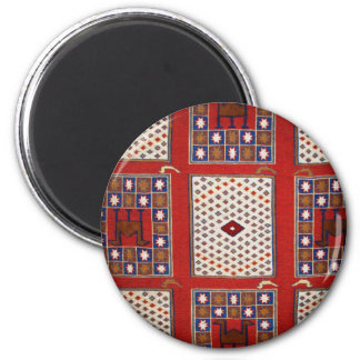 Antique Ottoman Weaving 6 Cm Round Magnet