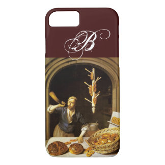 ANTIQUE OVEN  BAKER ,BAKERY BREAD SHOP MONOGRAM iPhone 8/7 CASE
