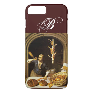 ANTIQUE OVEN  BAKER ,BAKERY BREAD SHOP MONOGRAM iPhone 8 PLUS/7 PLUS CASE
