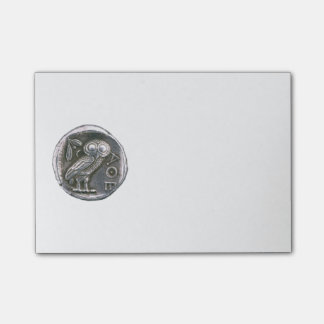 ANTIQUE OWL silver Post-it Notes